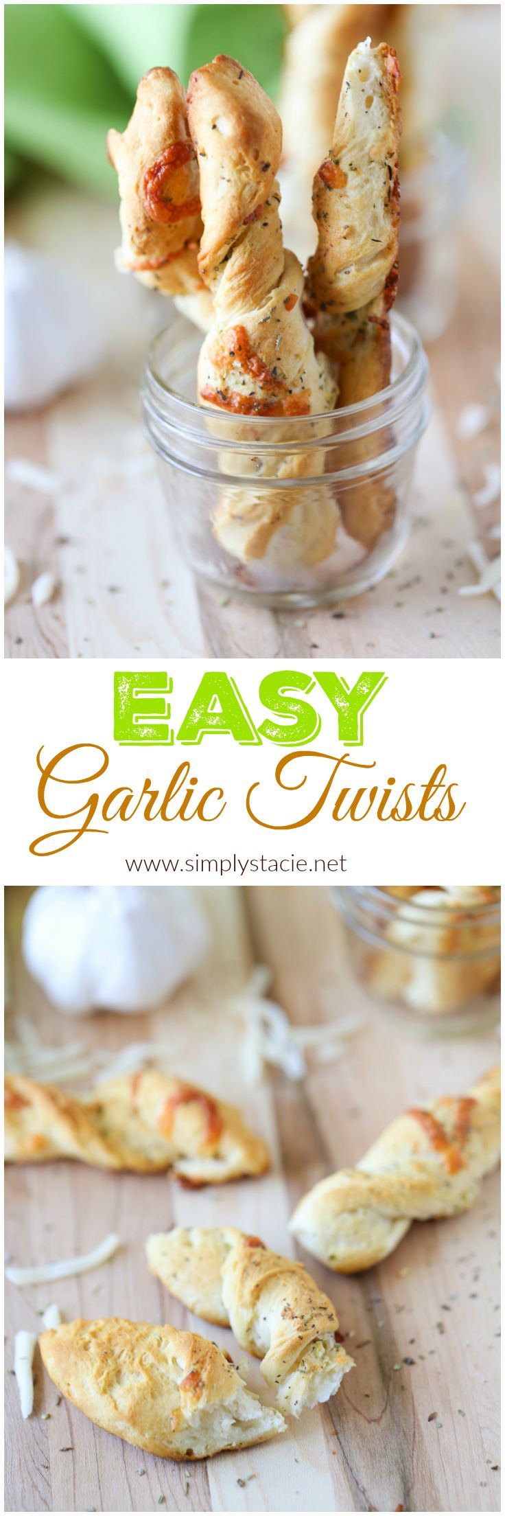 This Easy Garlic Twists recipe is a crowd favourite with only a few ingredients! Use refrigerated biscuits to save time.