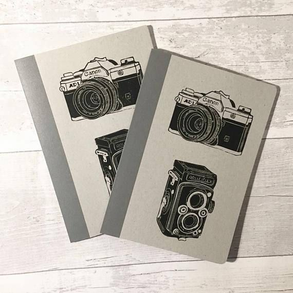 Vintage camera notebooks set of two Canon Rolleiflex