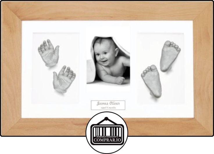 Anika-Baby Kit de moulage de (Idéal pour les jumeaux.), 36,8x 21,6cm Cadre en hêtre véritable Blanc, contour blanc, peinture Argenté métallique  ✿ Regalos para recién nacidos - Bebes ✿ ▬► Ver oferta: http://comprar.io/goto/B00FON6MYG