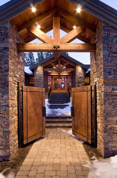 Lodge Style Doors : Texas lodge style luxury bend real estate