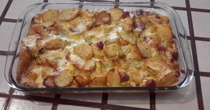 Ομελέτα στον φούρνο με λουκάνικα