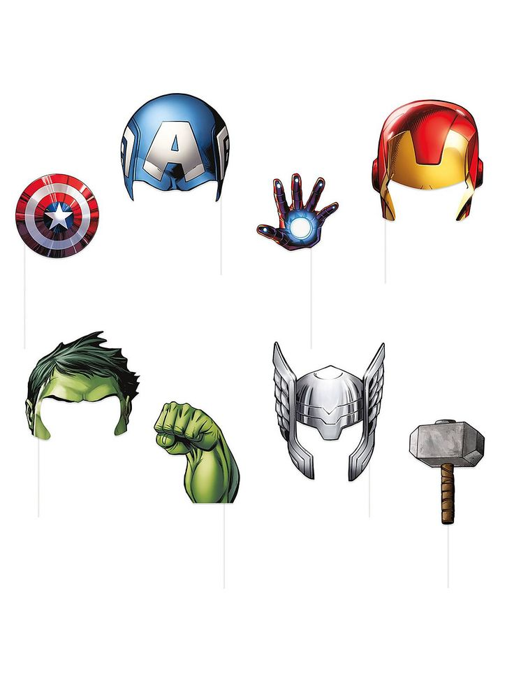 Avengers Photo Booth Props - Avengers and Party Supplies