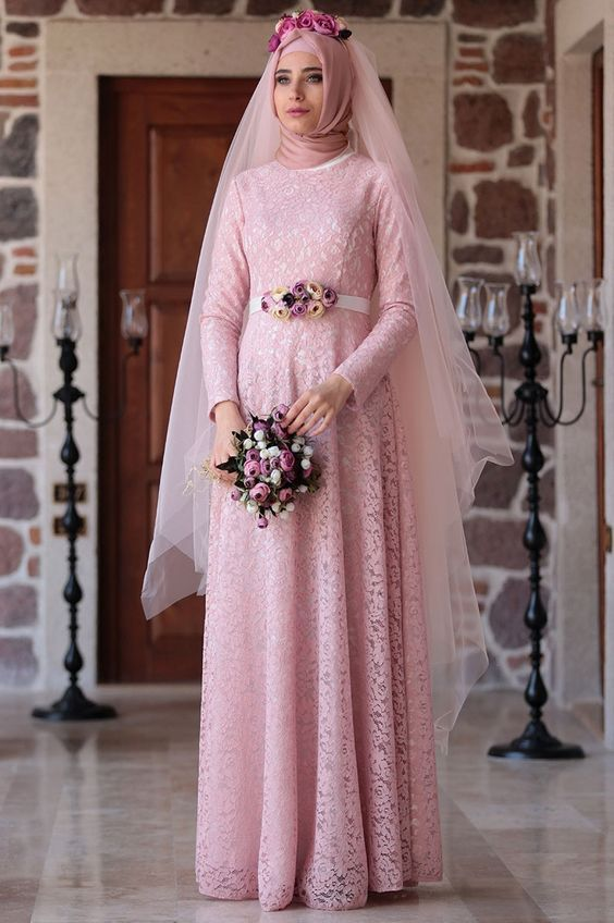 Muslim Wedding Dress with Sleeves