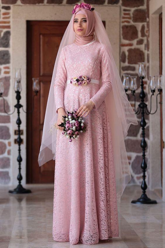 Muslim Wedding Dress with Sleeves