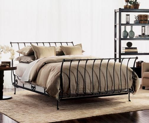 Wrought Iron Sleigh Bed Similar To The One We Have For Our Married Days!