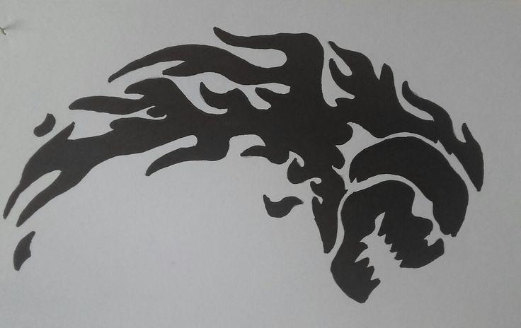 Czaszka rysunek graffiti