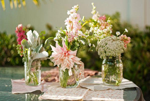 diy cheap wedding centerpieces for reception   DIY Wedding Flowers   Hanle Productions