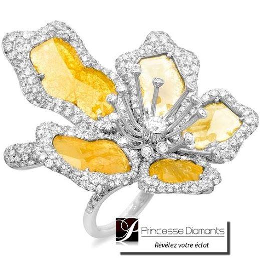 Marc Vigoureux - Google+ Bague or blanc Princesse Diamants # ...
