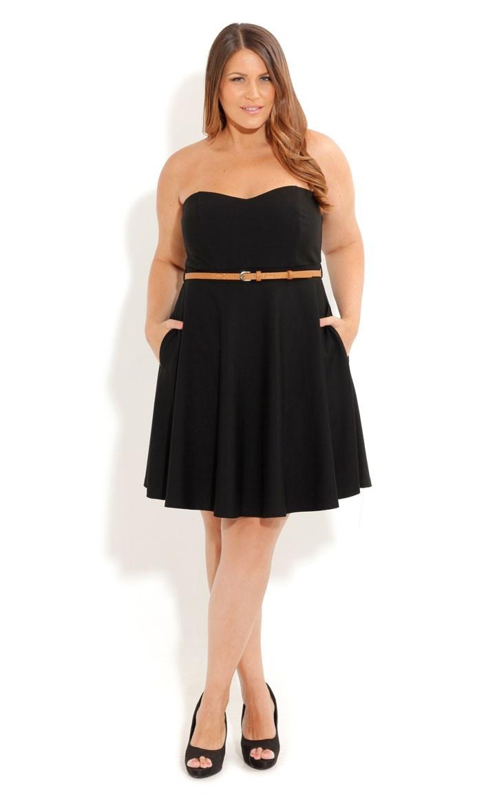 I<3 this! Plus Size Strapless Skater Dress - City Chic: Strapless Skater, Dresses Black, Fashion Dresses, Black Dresses, Cute Dresses, Cities Chic, Plus Size Dresses, Skater Dresses, Chic Strapless