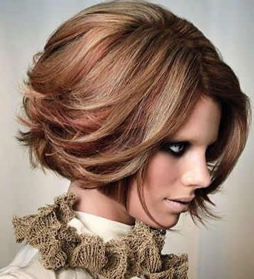ginger and blonde highlights on brown hair