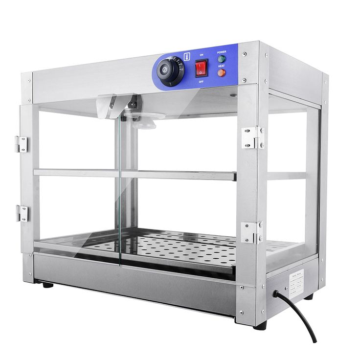 Countertop 2 Tier Pizza Food Warmer Display Case Cabinet