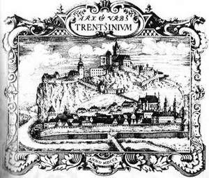 Veduta z odpisu Notícii Mateja Bela z roku 1710.