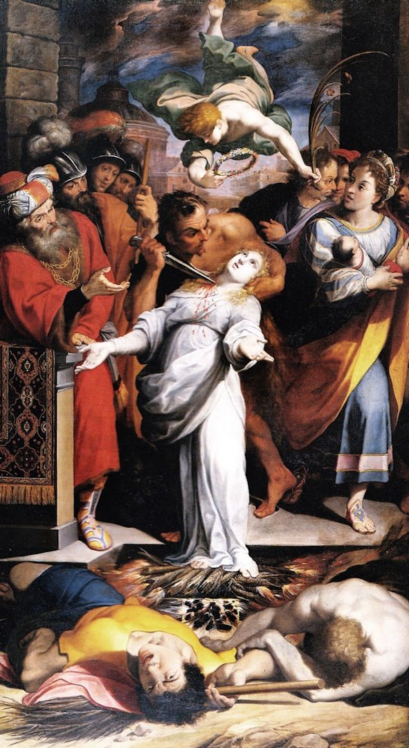 Image result for saint AGNES MARTYRDOM MIRACLE