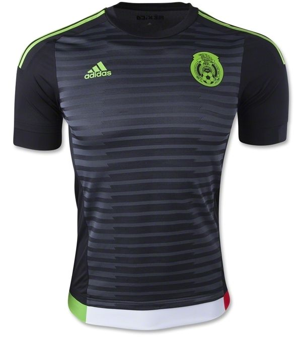 This is the new Mexico home jersey 2015, the principal jersey for the Mexican national team for their internationals in the 2015/16 season and the 2015 Copa America tournament in Chile. For the fir…