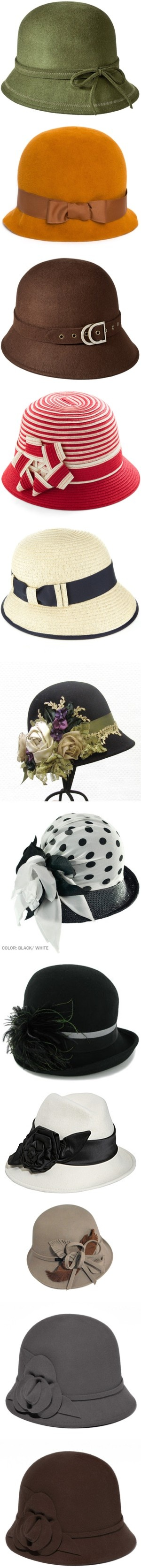 """cloche vintage hats"" by countrycousin ❤ liked on Polyvore"