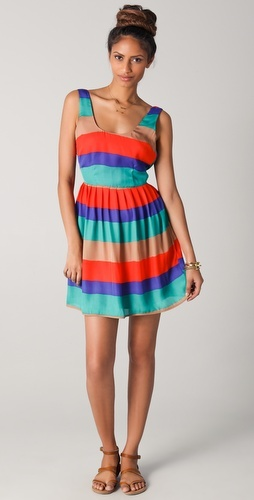 Colorful: Dakota Covet, Plays Dresses, Tanks Dresses, Summer Stripes, Stripes Tanks, Covet Stripes, Cute Summer Dresses, Stripes Dresses, Bb Dakota