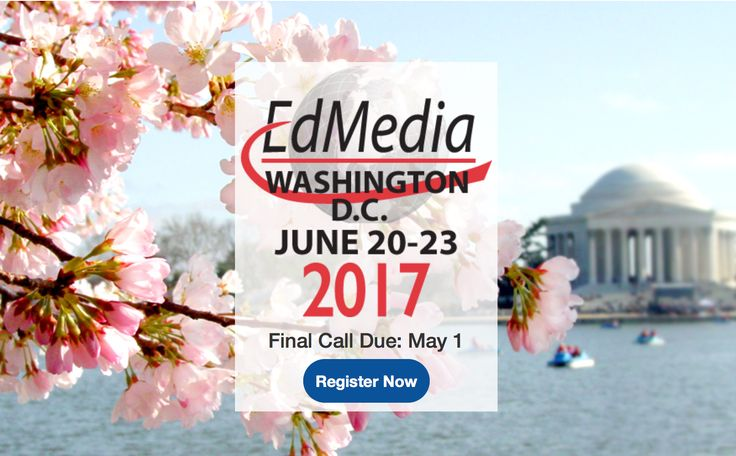 I'd like to invite you to EdMedia 2017—World Conference on Educational Media and Technology organized in Washington, DC, USA, June 20-23, 2017 https://www.aace.org/conf/edmedia/   As an EdMedia Executive Committee member, I would like to personally invite you to submit a proposal for the conference.  The Call for Papers is currently open; the deadline is May 1, 2017. Details about the Call for Proposals and the conference are available at: https://www.aace.org/conf/edmedia/call.htm