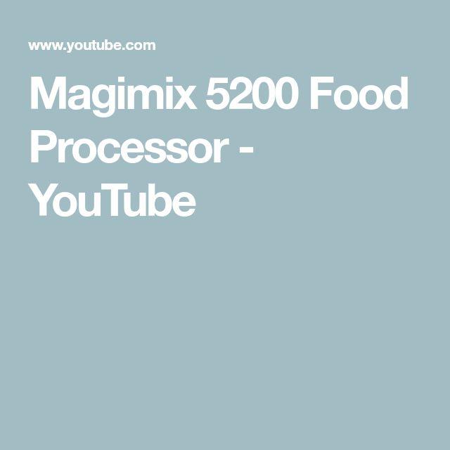 Magimix 5200 Food Processor - YouTube