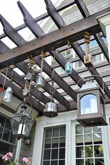 outdoor seating : lanterns