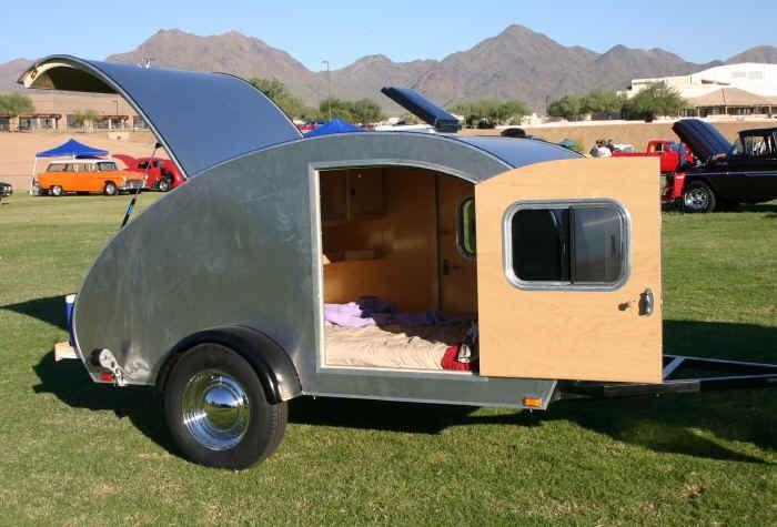 Hot Rod teardrop trailer lightweight camper trailers