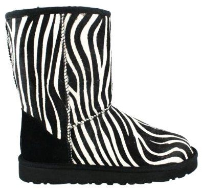 Zebra Print Girls UGG Boots - Girls UGG Boots and my foot may fit too:)