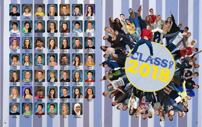 As of about 4 PM on April 1, the 2013-14 yearbook was complete and sent to the printers. Custom cover art by Meredith Fern Messinger: Spreads by a staff of fifteen, plus…