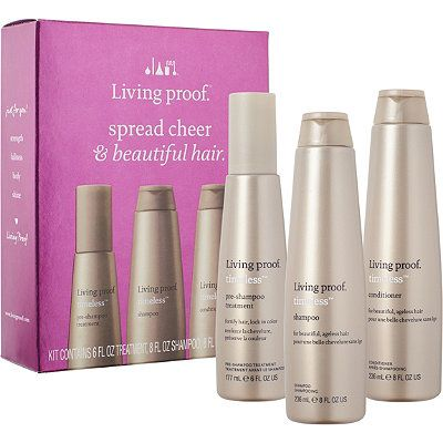 TO TRY: Living Proof Online Only Spread Cheer & Beautiful Hair Kit  Ulta.com, online only.