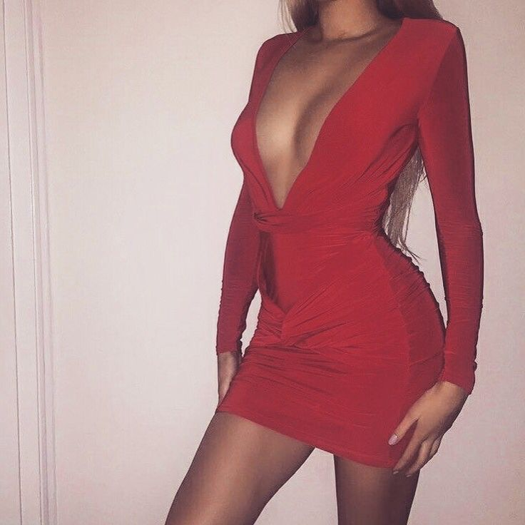 red hot  this is giving us weekend baddie vibes. the little red dress is a classic for a glam look