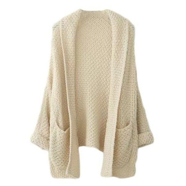 Chasley Chunky Knit Cardigan ($37) ❤ liked on Polyvore featuring tops, cardigans, outerwear, jackets, sweaters, brown cardigan, cardigan top, thick knit cardigan, brown tops and drapey cardigan