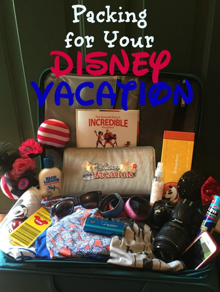 Packing for your Disney vacation: here's a list of must have's when traveling to the House of Mouse!