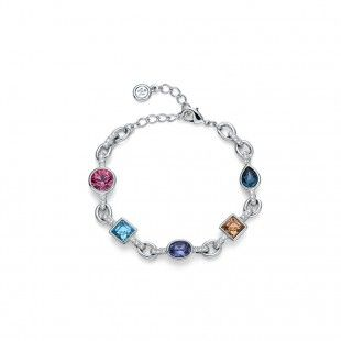 Oliver Weber Women label colourful bracelet with Swarovski Crystals
