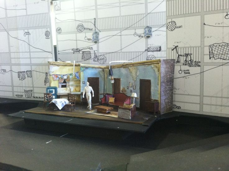 A model of the set for A Raisin in the Sun, from Scenic Designer Dede Ayite.: Design Dede, Scenic Design, Design Raisins, Dede Ayit