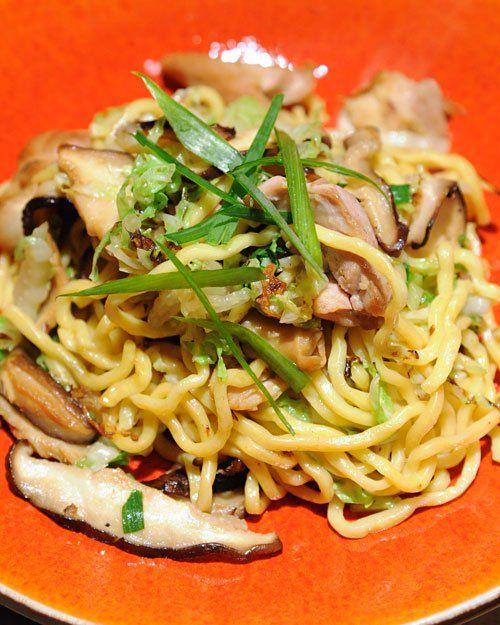 Chicken Lo Mein with Ginger Mushrooms from Martha Stewart