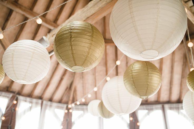 Ivory and Gold Lanterns in the Animal Engine Room @lillibrooke #hanginglanterns #lanternlove #festoon
