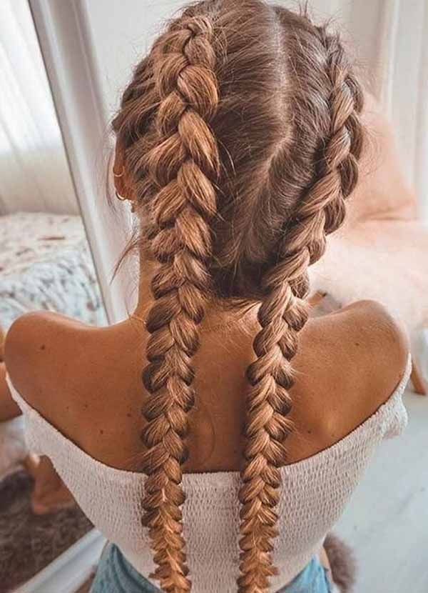 10 Beautiful Two Braid Hairstyles That Can Rock Your Outlook Hair Styles Two Braid Hairstyles Braided Hairstyles