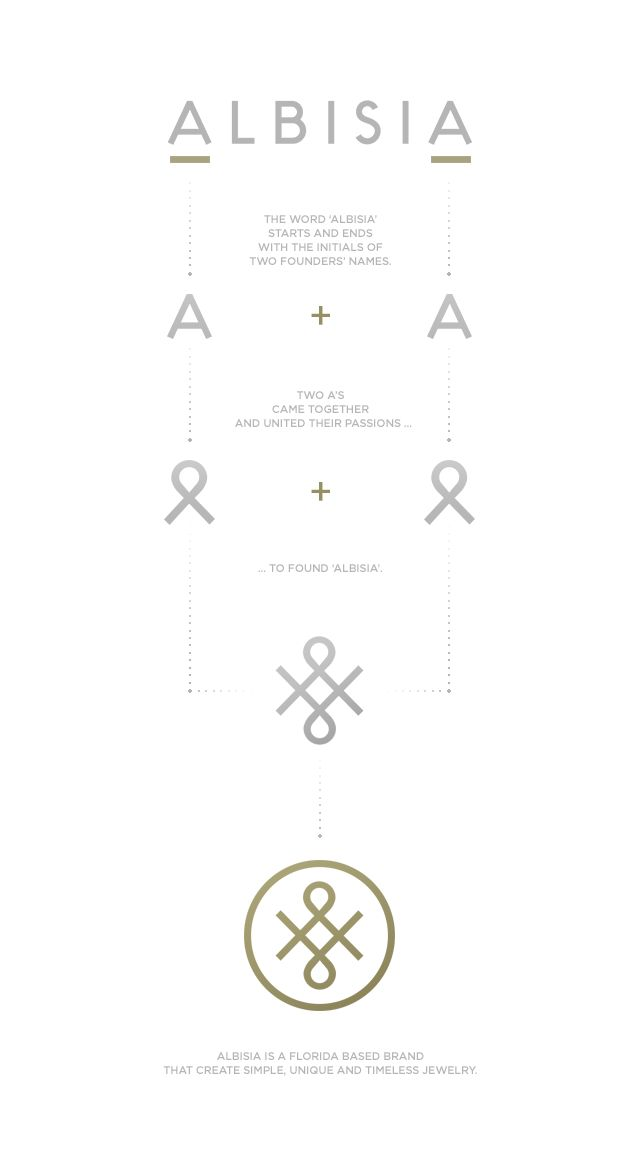 Corporate identity for a Florida based jewelry brand, Albisia.