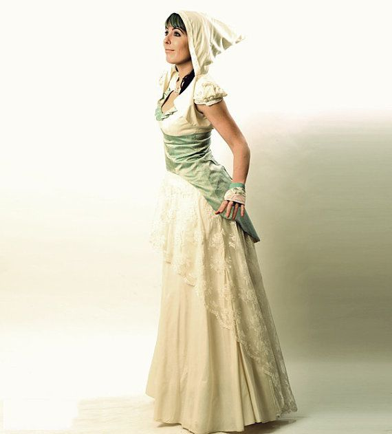 Aqua Wedding Dress with swallowtail lace-up Mermaid by Malam