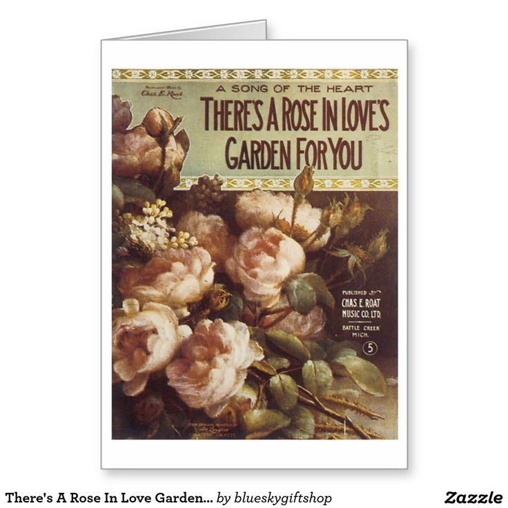 There's A Rose In Love Garden For You Song Sheet Greeting Card
