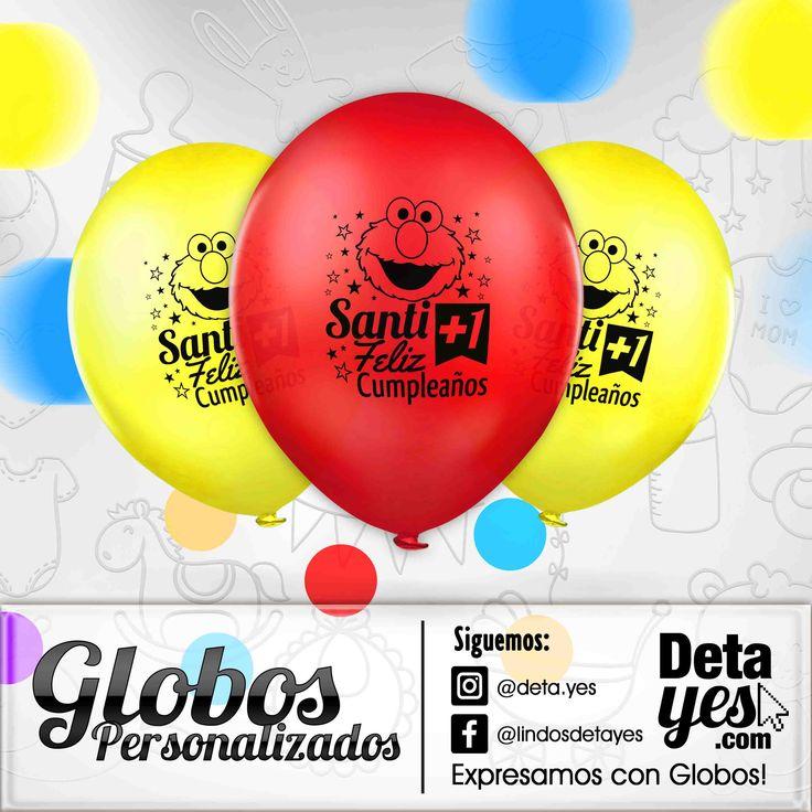 Globos Personalizados para Fiesta de Bebe de 1 añito, Motivo Emo,  somos @deta_yes  , Envíos a Toda Colombia, Pedidos 31856657519