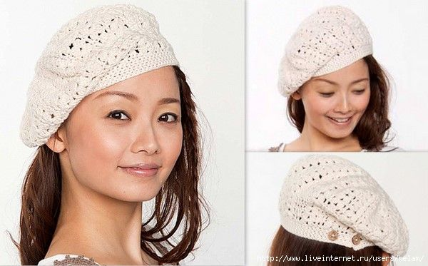 bonnet 4..the motif and all the diagrams are on this site for this cute beret. Plus other hats.