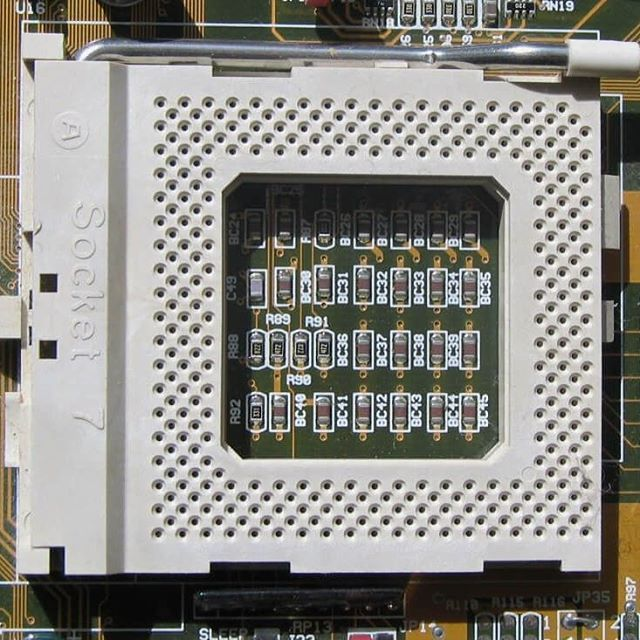 There was a time when the same CPU socket allowed for both Intel and AMD CPUs. #techspot #techtrivia #hardware