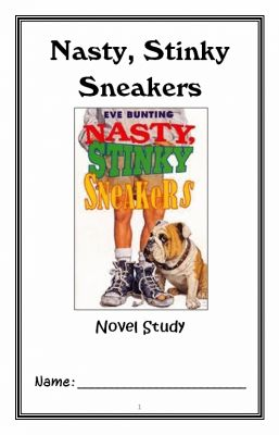 Nasty, Stinky Sneakers (Eve Bunting) Novel Study / Reading Comprehension from McMarie on TeachersNotebook.com -  (40 pages)  - A fun, engaging, 40-page booklet-style Novel Study complete with a challenging book-based Word Jumble and Word Search. Based on Eve Bunting's 'Nasty, Stinky Sneakers.'