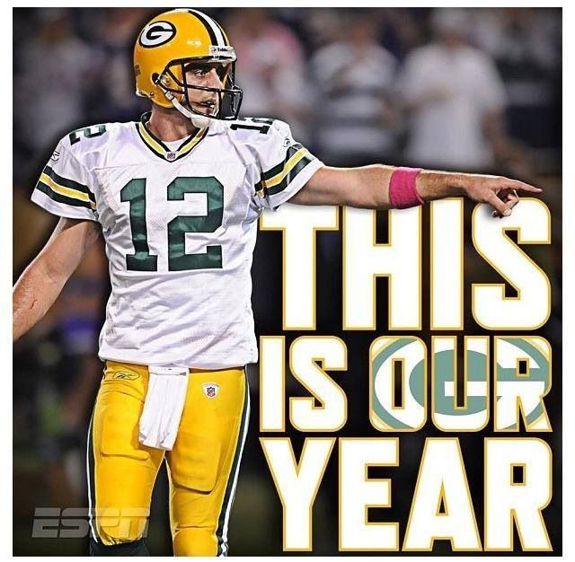 Yes! In this pocket of West Virginia, we love you. That's MY team and my quarterback #12 who deserves MVP. This IS our year. GO PACK GO!