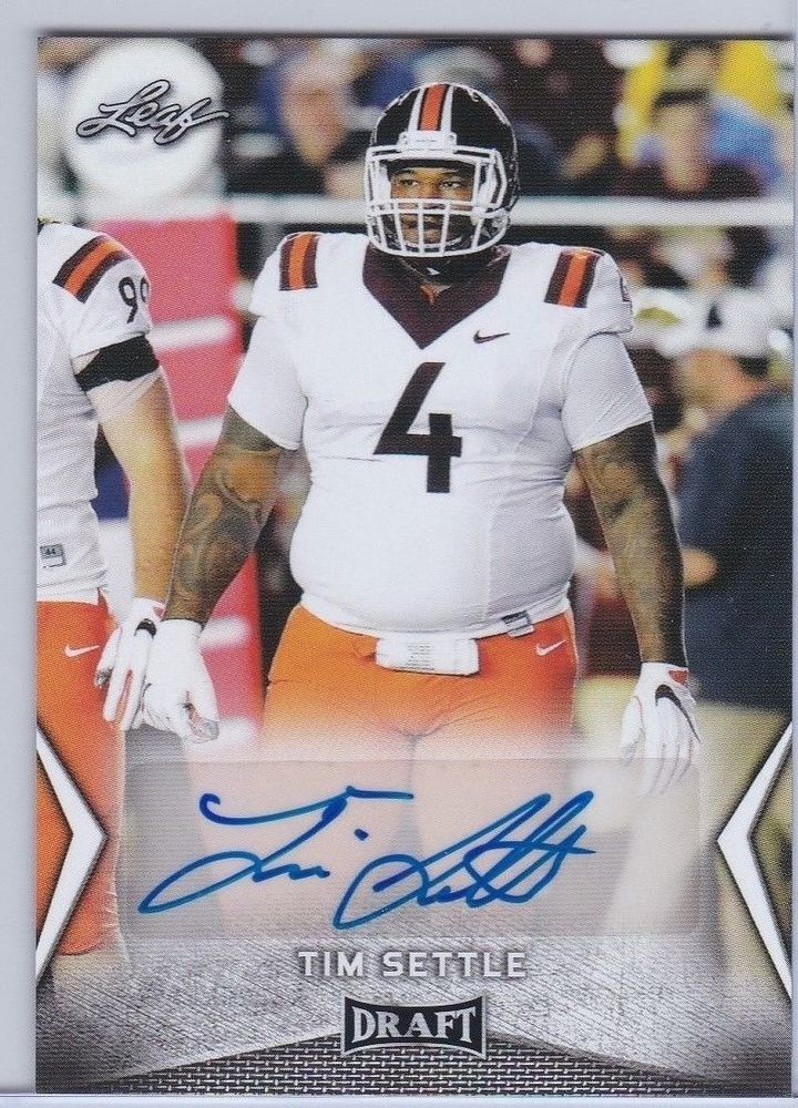 3109b8637bf 2018 Leaf Draft Tim Settle Virginia Tech Autographed Sports Card ...