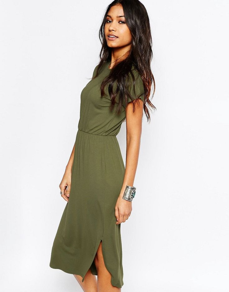 ASOS Waisted T-shirt Midi Dress