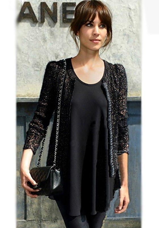 Black Plain Sleeveless Mini Dress
