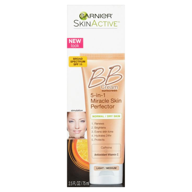 Garnier BB Cream Skin Renew Light/Medium, 2.5 FL OZ