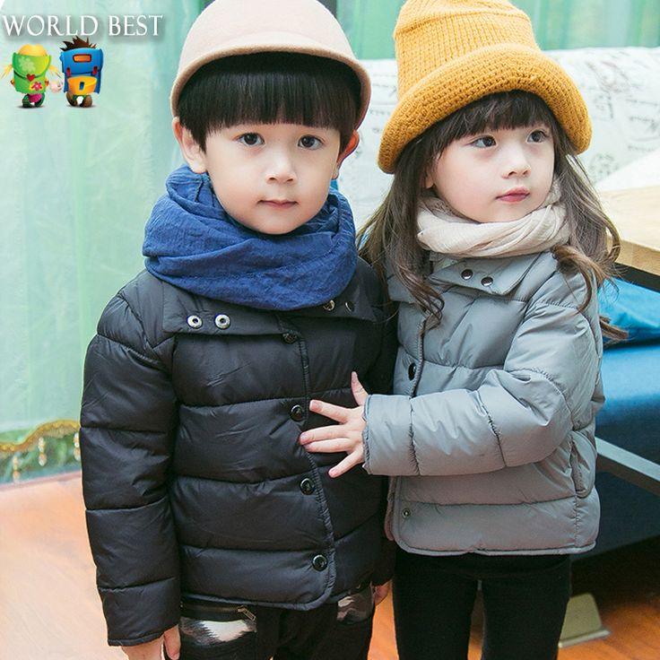 Детская одежда девушки зимнее пальто 2015 мода зимние куртки для девочек-подростков комфортно сплошной цвет девушки верхняя одежда