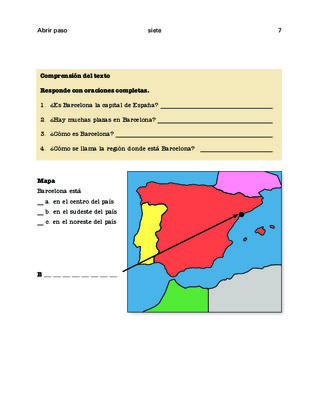 Compare: Spain + Peru (1); Barcelona + Mexico City (2); LA regions (3) Thematic units - Beg. 1 from Miraflores from Miraflores on TeachersNotebook.com (24 pages)  - Three easy thematic units for beginners to learn basic facts. Compare two countries, compare two cities and divide Latin America into regions. Contextualized.