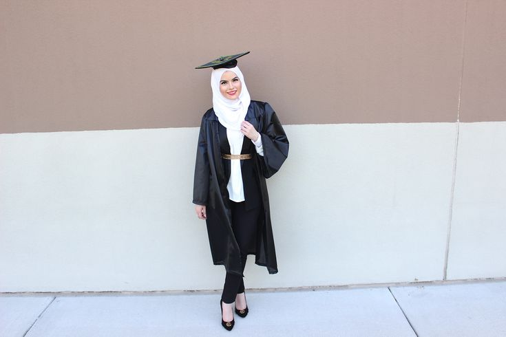 Graduation outfit ideas. Shimmer striped hijab www.uniquehijabs.com